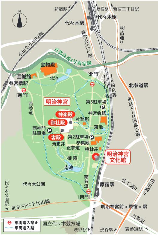 神宮の地図