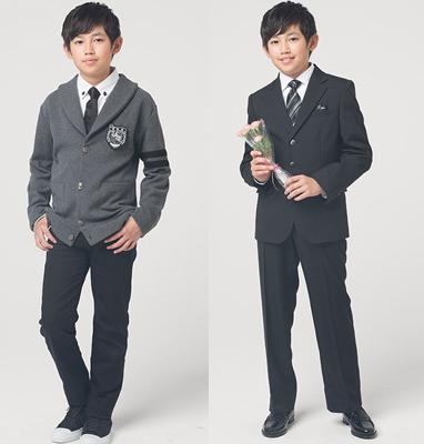 スーツとカーディガン