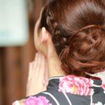 浴衣の髪型はシンプルが可愛い!飾りなしのアップや編み込みを紹介